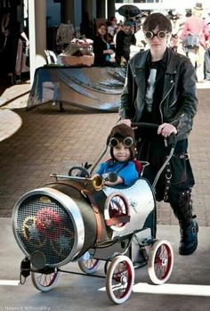 Steampunk dad and one lucky kid!