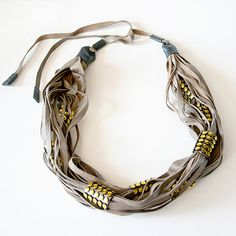 Ringo Scarf leather necklace