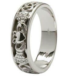 14K Diamond Claddagh & Celtic  Knot Wedding Ring