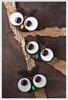 It's Written on the Wall: (Oreos) 18  Halloween Treats Cute Owl Treats for school parties and home