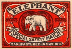 elephant special safety match