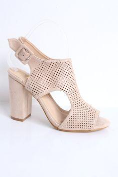 de1335a3b6 Beatrice Beige Suede Laser-Cut Heeled Sandals. Virgo Boutique Fashion ·  Women's Fashion Shoes