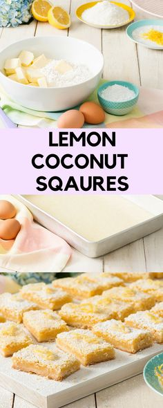 When life gives you lemons, make Lemon Coconut Squares  It's the perfect Easter treat! #easterrecipes