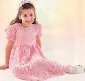 Розовое платье для юной модницы