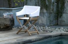 DePadova Redesigns the Director Chair as Outdoor Patio Furnishing #backyard trendhunter.com