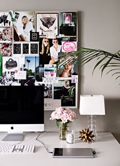 inspiration board + pink flowers // sleek
