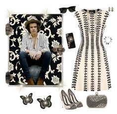 """~ Harry Styles ~"" by stylistic-1 ❤ liked on Polyvore featuring Alexander McQueen, Ray-Ban, Safavieh, Chanel, Vivienne Westwood, Retrò and D&G"