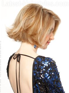 Flipped Out Bob Blonde Style with Volume