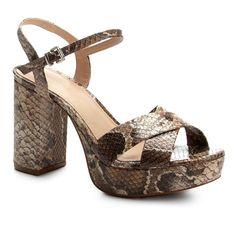 c53b88969f Sandália Couro Shoestock Meia Pata Cobra Feminina