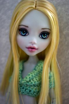 OOAK Monster High Lagoona Blue Repaint by Hyangie