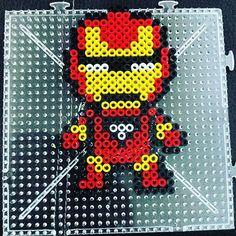 Iron Man hama beads by  angie_drew_bieber