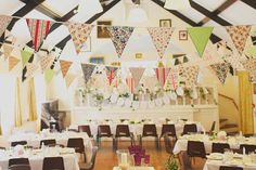 Bunting. Photography by www.hannahmillardphotography.com at vintageenglishteacup we love bunting