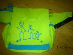 Belt bag for baby carrier with a cute boys. :)