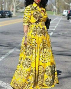 is on gown styles. Ankara gown styles comprise both the long gown styles and the short gown styles. The gown styles generally are designed to drape above the knee or below the knee. They are the most patronised Ankara Style. Ankara Long Gown Styles, African Dresses For Women, African Print Dresses, African Attire, African Wear, Ankara Styles, African Style, African Fashion Designers, African Fashion Ankara