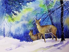 Deer in the Forest by Rachel McNaughton
