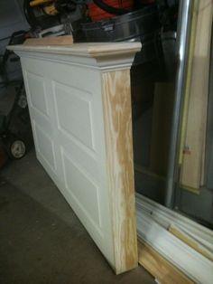 5 Panel Vintage Door Headboard   Antique White + Faux Distressing | Door  Headboards, Vintage Doors And Doors