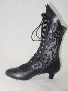 Gothic Victorian Lace Insert Granny Boots from Shop 4 Costumes on eBay. $48.84.