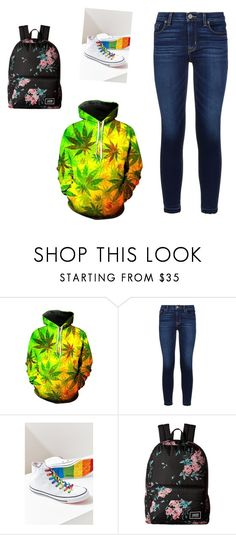 """""""Untitled #3919"""" by ania18018970 ❤ liked on Polyvore featuring WithChic, Hudson, Converse and Vans"""