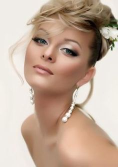 Sleek bride makeup!