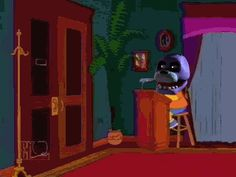 Simpsons and FNaF crossover! Grandpa be like NOPE!