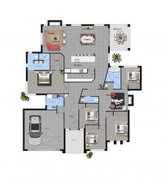Floor Plan Friday: 5 bedroom modern with rumpus