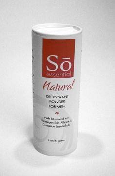 Natural deodorant specifically formulated for men.