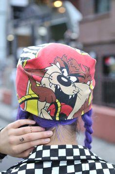 taz Street Art, Street Style, Tasmanian Devil, Bugs Bunny, Looney Tunes, Harley Davidson, Winter Fashion, Rocks, Fashion Accessories