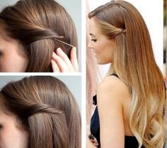 10 Quick And Easy Hairstyles For Updo Newbies – Easy Pulled Back Hairstyles Pulled Back Hairstyles, Bobby Pin Hairstyles, Braided Hairstyles Tutorials, Curled Hairstyles, Easy Hairstyles, Hairstyles 2018, Simple Homecoming Hairstyles, Straight Hairstyles For Long Hair, Wedding Guest Hairstyles Long