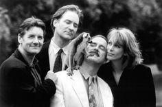 Still of John Cleese, Jamie Lee Curtis, Kevin Kline and Michael Palin in Fierce Creatures (1997)