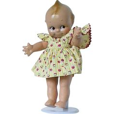 #VintageBeginsHere at www.rubylane.com @rubylanecom --All Composition Kewpie doll is fully  jointed