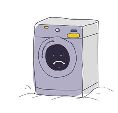The Lonely Washing Machine: After using Mywash online laundry service no one use washing machine now. http://blog.mywash.in/the-lonely-washing-machine/