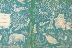 Pretty End papers from a Polish children's book. Forest Illustration, Plant Illustration, Children's Book Illustration, Graphic Design Illustration, Collages, Victorian Books, Children's Picture Books, Book Design, Illustrators