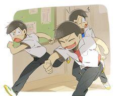 What'd Osomatsu do this time? Anime Love, Anime Guys, Manga Anime, Black Hair Boy, Comedy Anime, Ichimatsu, Pin Art, Haikyuu, Anime Characters