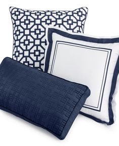 Hotel Collection Embroidered Frame Decorative Pillow Collection, Only at Macy's - Decorative Pillows - Bed & Bath - Macy's Bridal and Wedding Registry