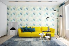 yellow accent for living room