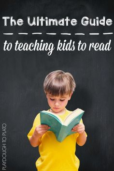 The step-by-step process for teaching kids how to read plus simple ways to do it. The Ultimate Guide to Teaching Kids to Read.