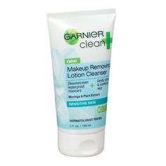 Why You Need aMakeup-Removing Cleanser—Stat - Garnier Clean+ Makeup Removing Lotion Cleanser Sensitive Skin  - from InStyle.com