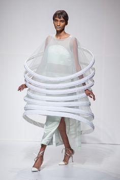 Sculptural Fashion -  encircling ring dress; conceptual fashion design; wearable art // Juliana Horner