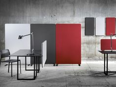 Mobile free standing workstation screen Edge Collection by Lintex | design Christian Halleröd