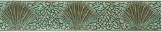 """Aqua/Brown Coral Shell Ribbon, 1-1/2"""" - LFN, Renaissance Ribbons"""