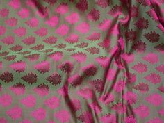 Pink Wholesale Jacquard Fabric By The Yard Indian Silk Wedding | Etsy