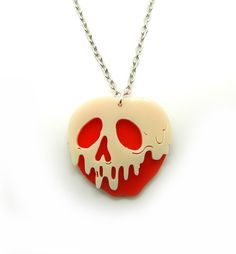 Poisoned apple necklace.