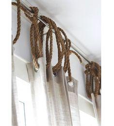 DIY curtains / attache rideau, idées pour attacher les rideaux