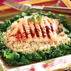 Seared Salmon with Blackberry-Chipotle Glaze from Smucker's®