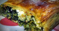 Spinach Pie www. Greek Recipes, Real Food Recipes, Cooking Recipes, Yummy Food, Greek Spinach Pie, Vegetarian Main Dishes, Greek Dishes, Spanakopita, Freezer Meals