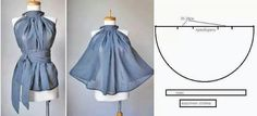 Gode ​​BLUSA ~ Moda y consejos de costura I must of misses this one. Diy Clothing, Sewing Clothes, Clothing Patterns, Dress Patterns, Sewing Patterns, Fashion Sewing, Diy Fashion, Ideias Fashion, Sewing Hacks