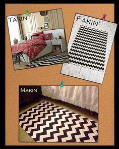 3 chevron rugs @ three prices ($$$, $$, $)