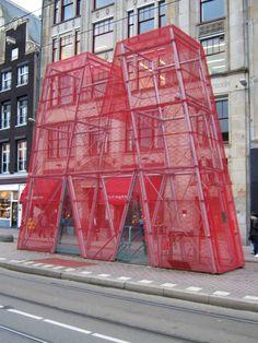 Viewpoint North South Line. Het Rokin, Amsterdam by artist Frank Mandersloot in collaboration with Verburg Hoogendijk Architects
