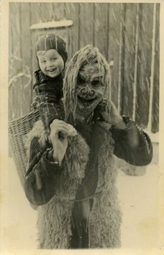 Krampus. Postcard, Österreich. - the dark side of St. Nick - watch out all you naughties!