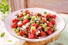Wassermelonen-Gurken-Salat mit Feta Rezept | LECKER